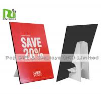 Buy cheap Customized A4 Size Cardboard Standee Advertising Paper Pop Display from wholesalers