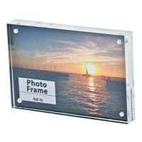 Wholesale rectangular acrylic photo frames with magnets from china suppliers