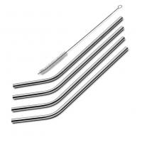 Wholesale XBR 8.5-Inch Stainless Steel Straws with Free Cleaning Brush for 20oz Tumblers, Set of 4 from china suppliers
