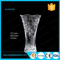 Wholesale cheap clear glass vase for decoration from china suppliers