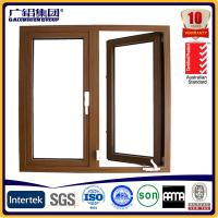 Quality Australia style hand swing glass aluminium window for sale