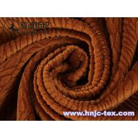 Wholesale Polyester flannel burnout dyeing fabric with short plush for upholstery and sofa fabric from china suppliers