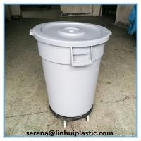 Wholesale New Products Plastic round trash can waste basket lidless garbage bins with dolly  for sales from china suppliers
