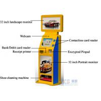 Wholesale Shoe-cleaning Machine Free Standing Kiosk Three Screens Only One PC Controls from china suppliers