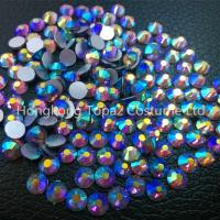 Wholesale amethyst ab DMC rhinestones ss20 10gross pack non hotfix flat back glass rhinestone from china suppliers
