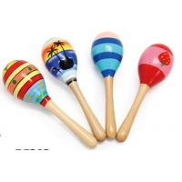Wholesale Wood Toy Music Instrument , Cute Colored Orff Wooden Maracas from china suppliers