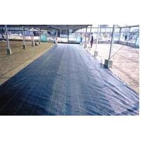 Black recycled woven weed mat