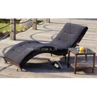 Wholesale Rattan Wicker Sunbed Outdoor Furniture , Rattan Sun Lounger Comfortable from china suppliers