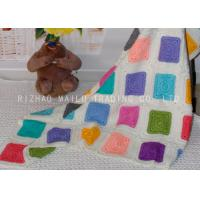 Wholesale Multi - Colors Square Handmade Crochet Blankets , Handmade Knitted Blankets from china suppliers