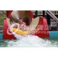Wholesale Space Bowl Water Slide Games , Fiberglass Pool Slides 30mx72m Floor Space from china suppliers