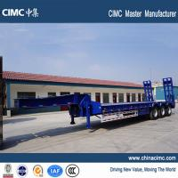 Wholesale tri-axle 80 tons lowbeds semi trailer with 315/80R22.5 tires from china suppliers