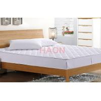 Wholesale Flat Soft  Washable Microfiber Mattress Protector Cover Elastic on 4 corners from china suppliers
