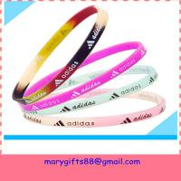 Wholesale free design thin baseball silicone bracelets from china suppliers