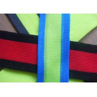 Wholesale Eco - Friendly Non Elastic Tape , Colorful Reflective Nylon Webbing Strap from china suppliers