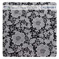 Wholesale Chemical Polyester Lace Fabric , Flower Embroidery Lace For Bridal Dress from china suppliers
