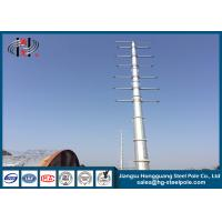 Buy cheap Zinc Coated Electrical Tubular Steel Poles For Transmission Line Project Q345 from wholesalers