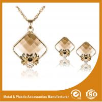 Wholesale Zinc Alloy Necklace And Earring Set Gold Plated Stainless Steel Jewelry from china suppliers
