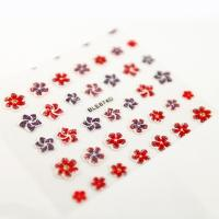 Buy cheap Glitter flower Red and purple Nail Art Decals with Flower printing from wholesalers