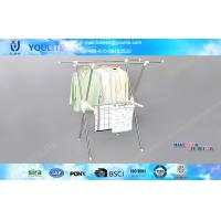 Quality Extendable X-type Folding Clothes Rack Metal Clothing Drying for Towels / Shirts for sale