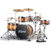 Wholesale Professional Lacquered Birch Wood 7 Piece Adult Drum Set With Remo Drumhead from china suppliers