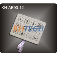 Wholesale 12 Keys Mini metal kiosk keypad from china suppliers