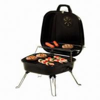 China Charcoal BBQ Grill Table, Painting Steel Base and Lid on sale