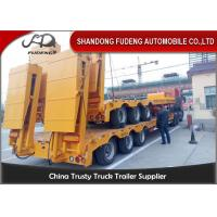 Wholesale 80 ton Gooseneck low loader Low Bed Tractor truck trailer sale Hydraulic ramp from china suppliers