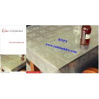 Quality PVC Table Cloth --RNPT Crystal lace table cloth ---Beautiful home decoration table cover for sale