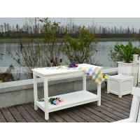 Quality 210001 retangular side table canteen table polywood cart with two layers garden furniture for sale