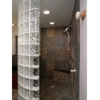 Wholesale Classic Transparent Glass Shower Partition , Glass Blocks For Hotel / Club from china suppliers