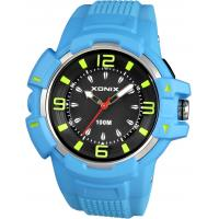 Quality 10ATM Gents sports watches analog styles silicon with IP gold bezel for sale
