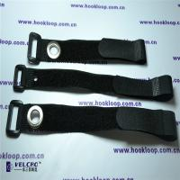 Wholesale 25mm Velcro Cord Straps , Strong Black Velcro Straps With Corns Button OEM Design from china suppliers