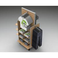 Wholesale Wood Slatwall Clothing  Garment  Display Racks With Metal Hangers from china suppliers