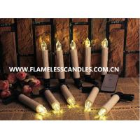 Wholesale Amazing Flickering Remote Control Flameless Candles / LED Taper Candles With Removable Clips from china suppliers