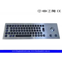 Wholesale Waterproof Kiosk Illuminated Metal Keyboard With Trackball And 64 Led-Backlit Keys from china suppliers