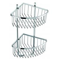 Wholesale Bathroom set double layer Corner Basket Shower Caddy Basket from china suppliers