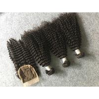 Wholesale Safe Peruvian 8A Virgin Hair Kinky Curly Hair Bundles With 4x4 Kinky Curly Closure from china suppliers