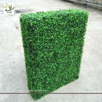 Wholesale UVG GRS03 indoor decorated plastic artificial boxwood hedge for party landscaping from china suppliers