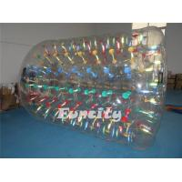 Wholesale Transparent Inflatable Water Roller , Colorful String Inflatable Aqua Rolling Ball from china suppliers