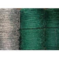 China PVC Coated Iron High Tensile Barbed Wire In Blue With Barb Length 1.5cm - 3cm on sale