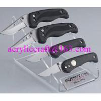 Wholesale PMMA knife holder, plexiglass knife & fork display stand / acrylic knife display rack from china suppliers