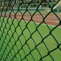 Wholesale 9 Gauge Wire with 50mm Hole 6' x 50' PVC Diamond Chain Link Fence with Green Color from china suppliers