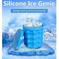Wholesale Reusable Leakproof Silicone ice Genie,Ice Cube Maker Genie Silicone Ice bucket The Revolutionary Space Saving Ice Cube M from china suppliers