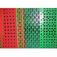 China Colorful PVC Coated Perforated Metal Mesh , Perforated Steel Mesh 0.5mm Thickness on sale
