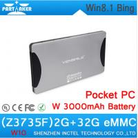 Quality W10 Pocket PC with atom Z3735F Win8.1 with bing 3000mAh full HD 3h DDR3L 2GB eMMC 64GB for sale