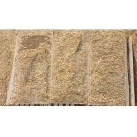Quality Tiger Skin Yellow Granite Mushroom Stones Granite Stone Wall Tiles Pillar/Column Wall Stone for sale