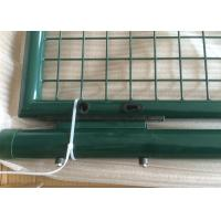 Wholesale Double Steel Garden Gate , powder coated round post garden gate Low carbon steel wire from china suppliers