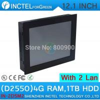 Wholesale 12'' Embedded Computer All In One PC Touch Screen with 5 wire Gtouch dual nics Intel D2550 2mm ultra thin panel from china suppliers