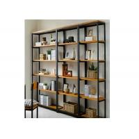 Quality 5 Tiers Heavy Duty Wall Mounted Display Case , Wooden Shelving Units Fashion Style For Showroom for sale