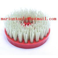 "Wholesale 4"" Round Diamond Abrasive Brush For Granite Marble Artificial Stone With Snail Round Head from china suppliers"